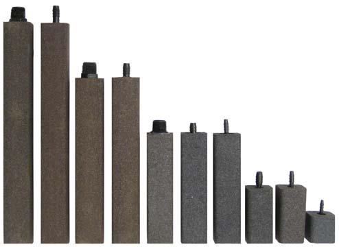 "AS937 Alumina Airstone – 1 1/2"" X 1 1/2"" X 9"" – 3/8"" barb"