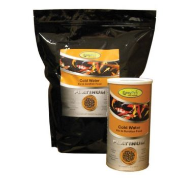EasyPro Platinum Koi & Goldfish Food - Cold Weather Food, 5lb bag