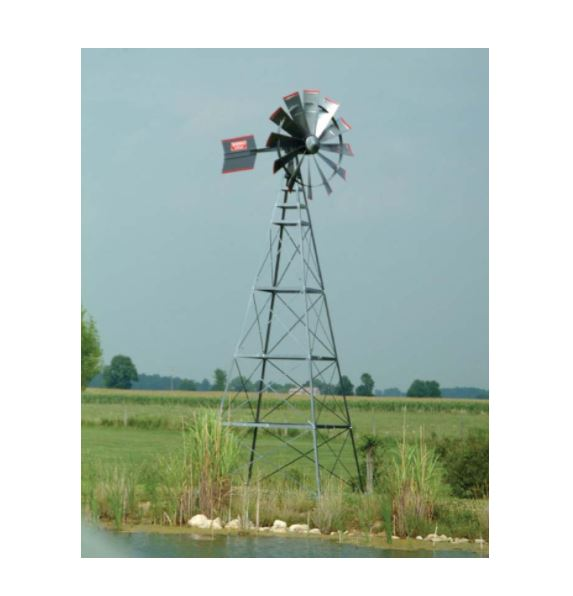 FLW16W 16′ Four Legged Windmill Assembly with Quick Sink Tubing