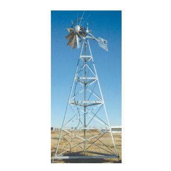 WM16W 16′ Three-legged windmill assembly with Quick Sink Tubing